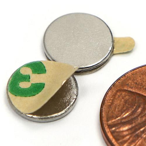 """3/8X1/16"""" w/ 3M Adhesive Neodymium Magnets"""