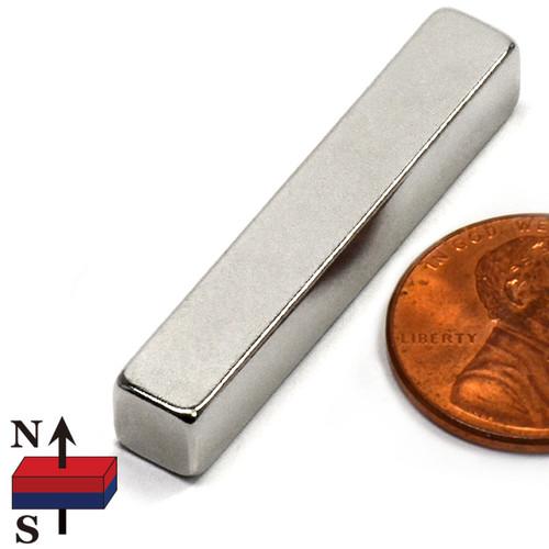 """N50 1.5X1/4X1/4"""" Rare Earth Magnet"""
