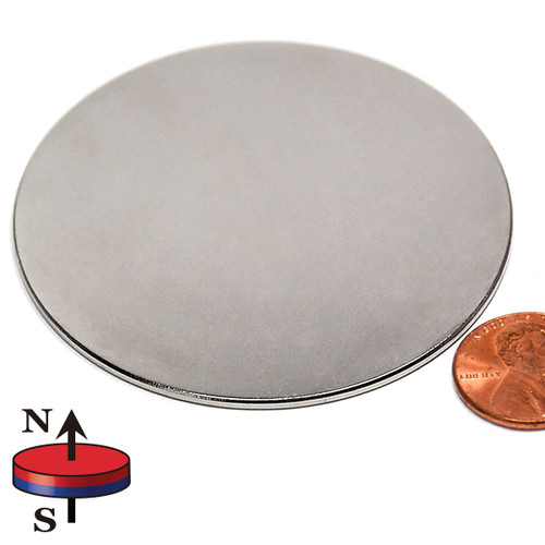 "2 1/2 x 1/16"" N45 Neodymium Magnet"