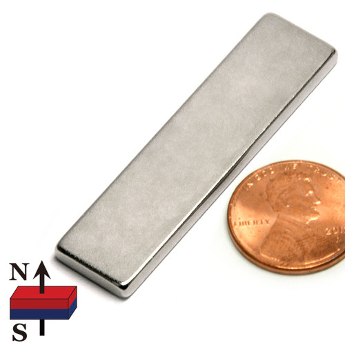 "2x1/2x1/8"" NdFeB Rare Earth Rectangle Magnet"