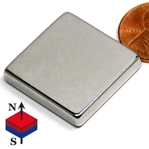 "1""x1""x3/16"" NdFeB Rare Earth Magnets"