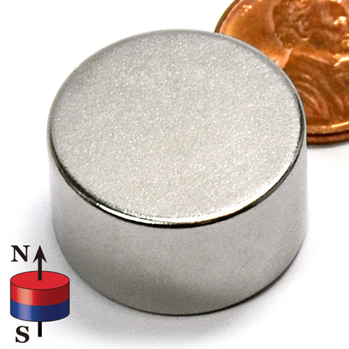 "7/8X1/2"" NdFeB Rare Earth Disc Magnet"