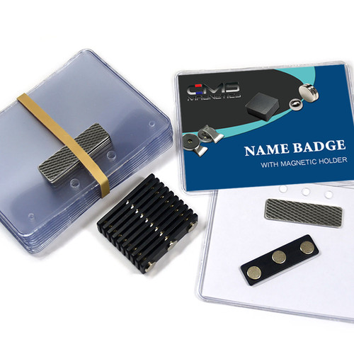 Magnetic name tags 24 sets diy magnetic name badges 3 x 4 side loading with bm 3mag solutioingenieria Choice Image