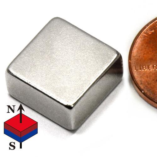 "N50 1/2x1/2x3/8"" NdFeB Rare Earth Magnet"