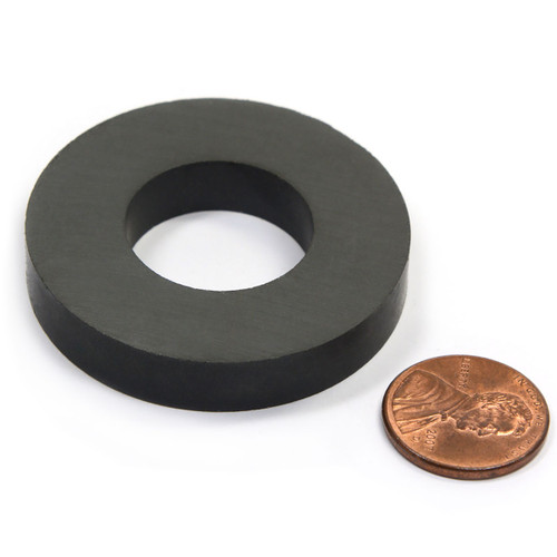 Grade 8 Ceramic Ring Magnet Od45 X Id22 X 8mm Cms Magnetics