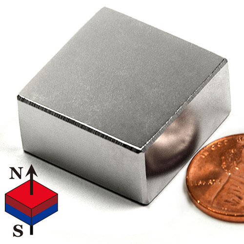 N40 1x1x1 2 Quot Neodymium Rare Earth Block Magnet