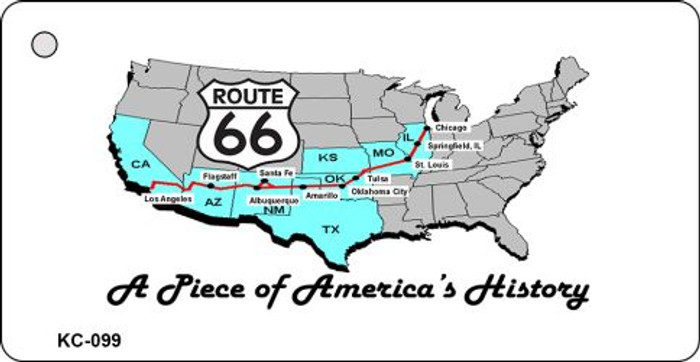 American History Route 66 Novelty Key Chain