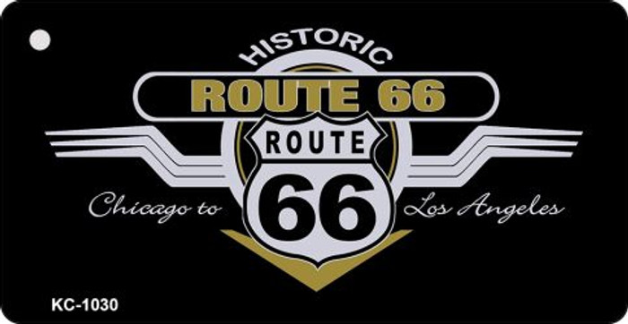 Route 66 Chicago To LA Mini License Plate Metal Novelty Key Chain
