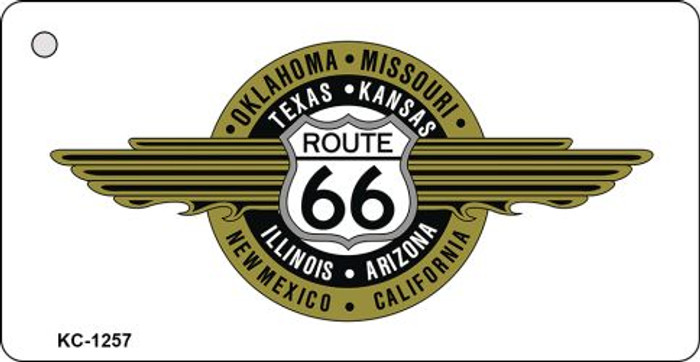 Route 66 Badge Novelty Key Chain