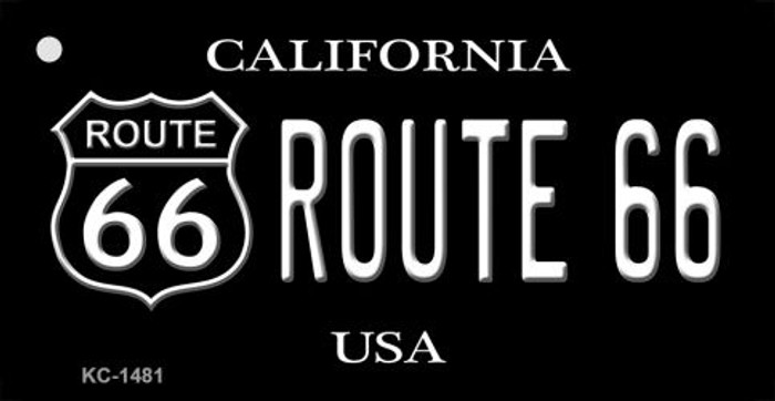 California Route 66 Black Novelty Metal License Plate