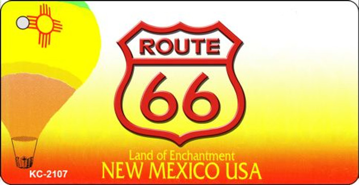 New Mexico Shield Route 66 Novelty Metal License Plate