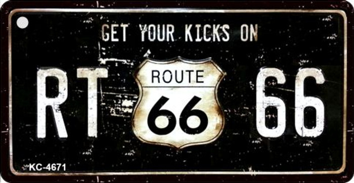 Route 66 Get Your Kicks Novelty Metal License Plate
