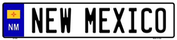 New Mexico Novelty Metal European License Plate