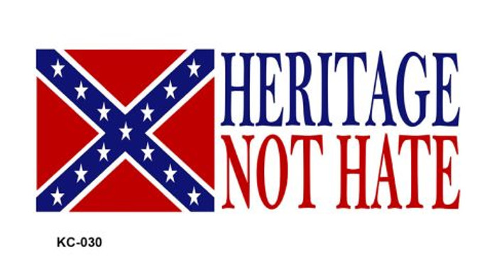 Heritage Not Hate Flag Novelty Key Chain