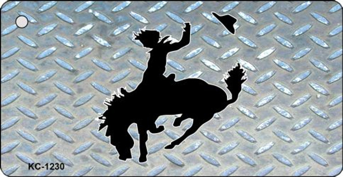 Bucking Bronco Diamond Novelty Key Chain