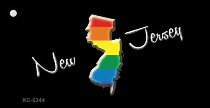 New Jersey Rainbow State Novelty Key Chain