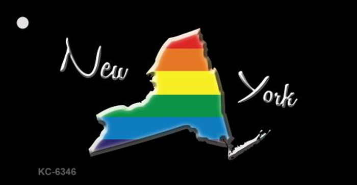 New York Rainbow State Novelty Key Chain