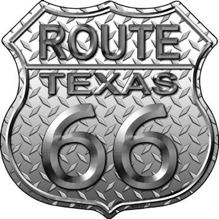 Route 66 Diamond Texas Metal Novelty Highway Shield