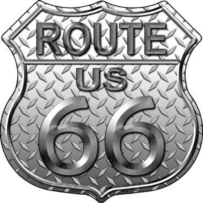 Route 66 Diamond Metal Novelty Highway Shield