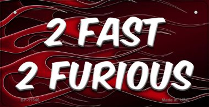2 Fast 2 Furious Novelty Metal Bicycle License Plate BP-11546