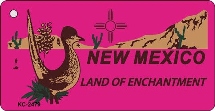 New Mexico Pink Novelty Key Chain