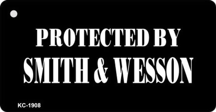 Protected By Smith & Wesson Novelty Key Chain