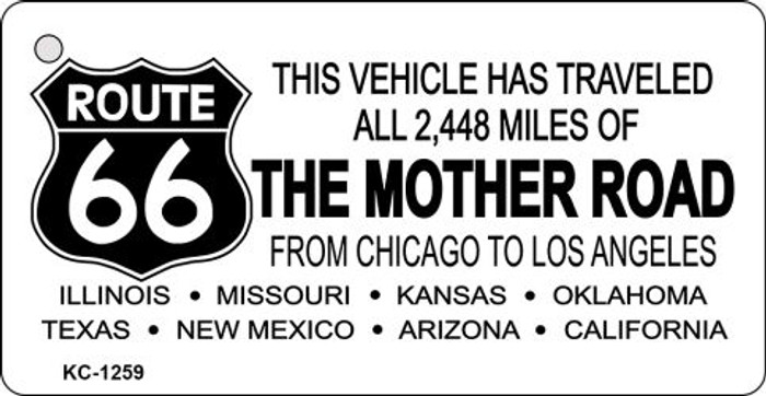 Route 66 Mother Road Novelty Key Chain