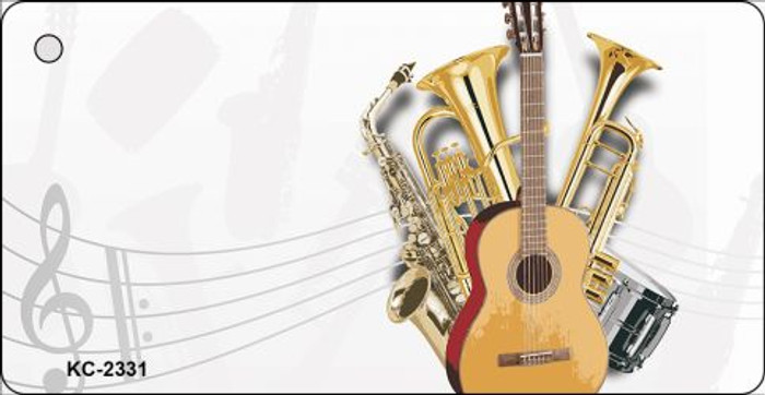 Musical Instruments OffSet Novelty Key Chain