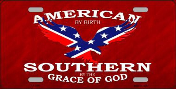 American By Birth Metal Novelty License Plate