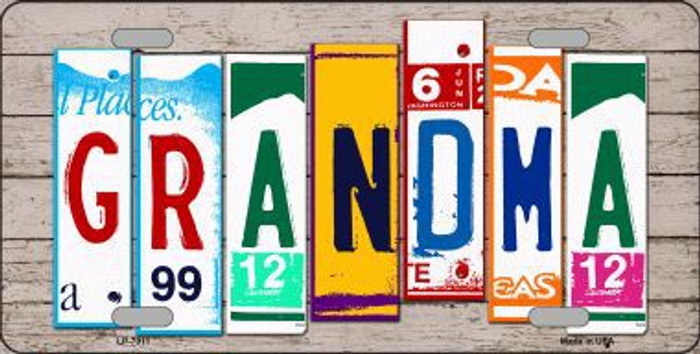 Grandma Wood License Plate Art Novelty Metal License Plate