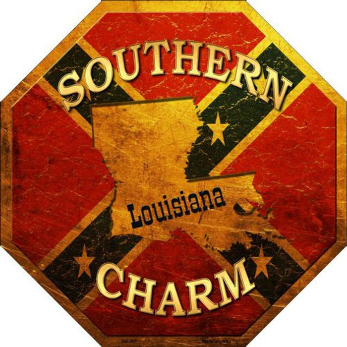 Southern Charm Louisiana Metal Novelty Stop Sign
