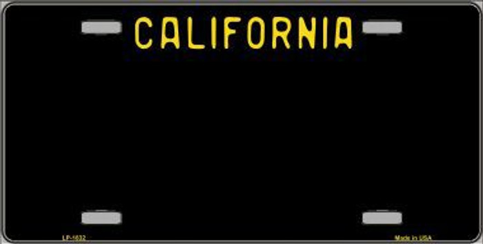 California Black Novelty State Background Metal License Plate