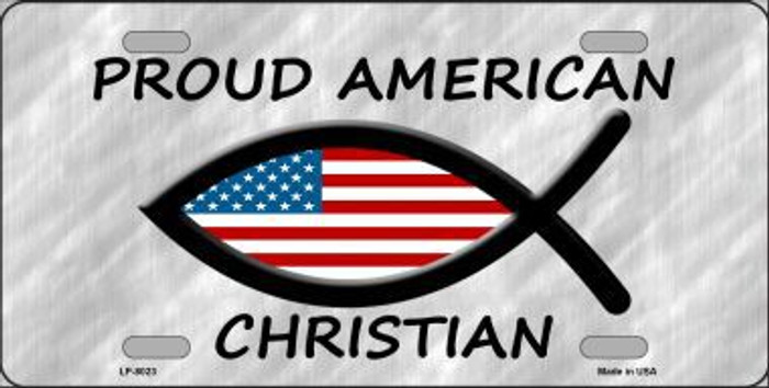 Proud American Christian Novelty Metal License Plate