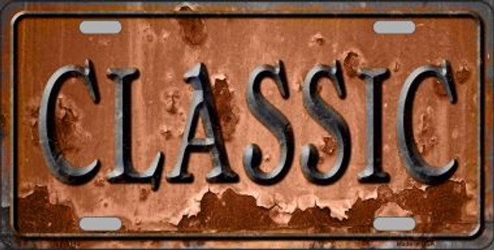 Classic Novelty Metal License Plate