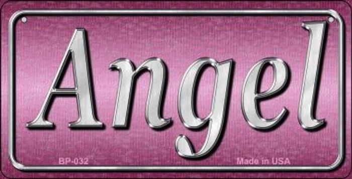 Angel Novelty Metal Bicycle License Plate
