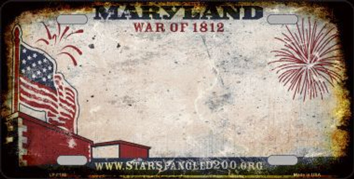 Maryland State Background Rusty Novelty Metal License Plate