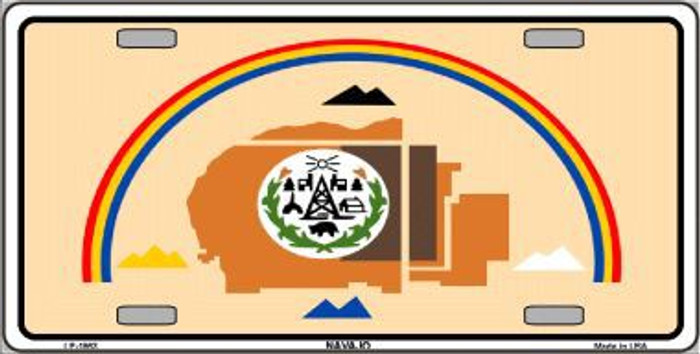 Navajo Flag Metal Novelty License Plate