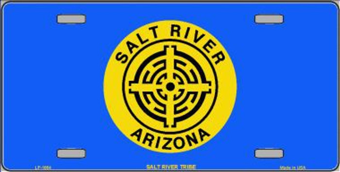 Salt River Tribe Flag Metal Novelty License Plate