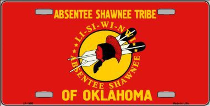Absentee Shawnee Tribe Flag Metal Novelty License Plate LP-1865