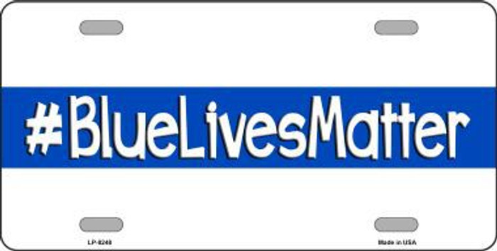 Blue Lives Matter Novelty Metal License Plate