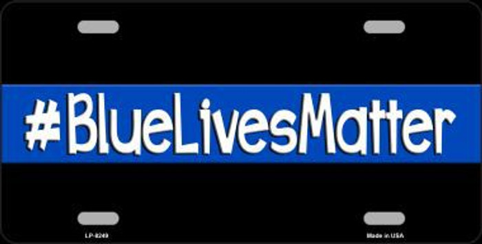 Blue Lives Matter Black Novelty Metal License Plate
