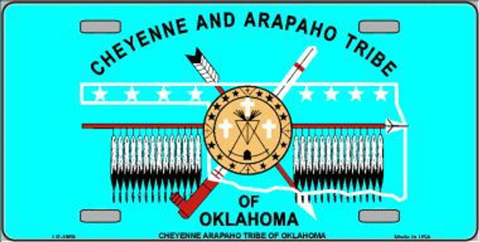 Cheyenne Arapaho Flag Metal Novelty License Plate