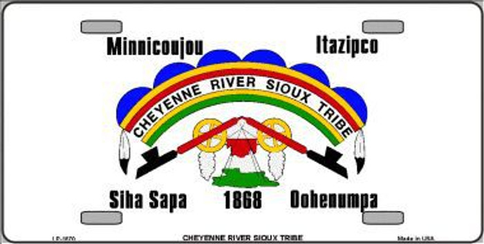 Cheyenne River Sioux Flag Metal Novelty License Plate