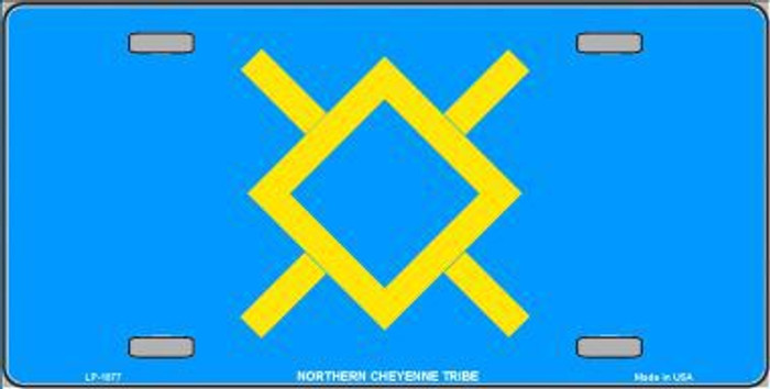 Northern Cheyenne Flag Metal Novelty License Plate