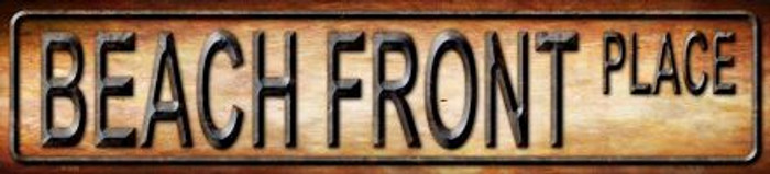 Beach Front Place Novelty Metal Mini Street Sign