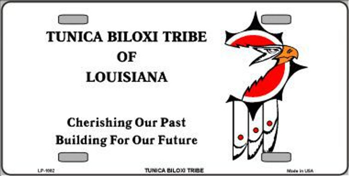 Tunica Biloxi Flag Metal Novelty License Plate