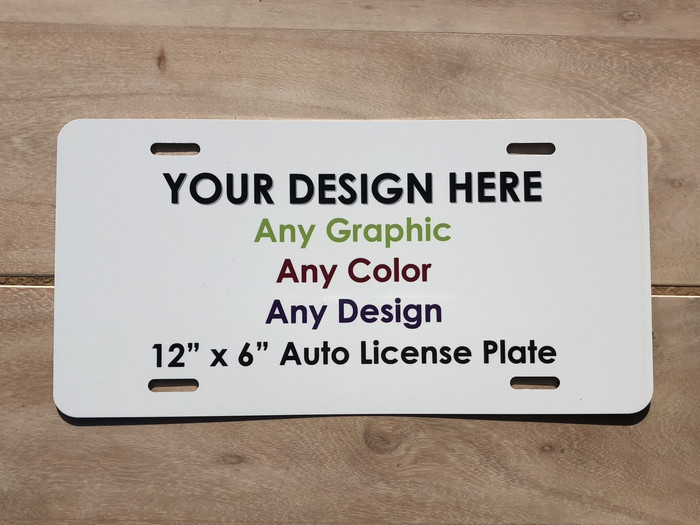 "Personalized Custom Novelty Aluminum License Plate Tag | 12"" x 6"" Automotive STANDARD SIZE"
