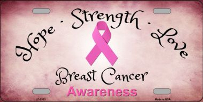 Breast Cancer Novelty Metal License Plate