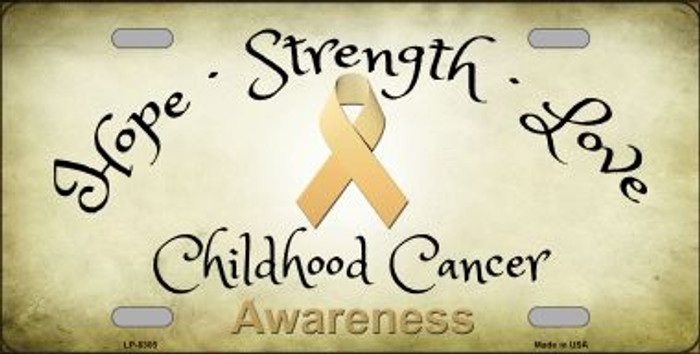 Childhood Cancer Novelty Metal License Plate