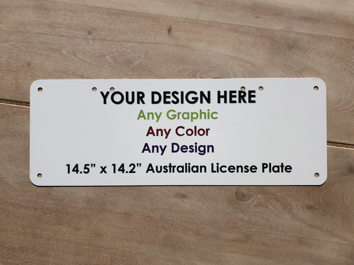 "Personalized Custom Novelty License Plate Tag | 14"" x 5.25"" Australian"